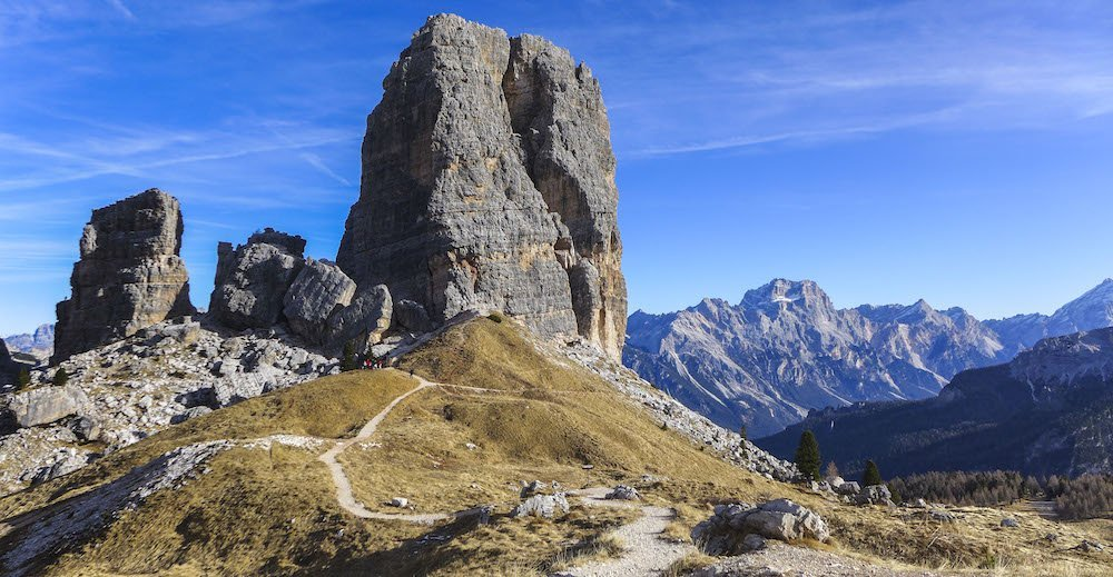 Le Cinque Torri in roccia Dolomia